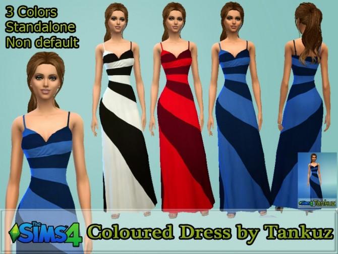 Sims 4 Coloured Dress at Tankuz Sims4
