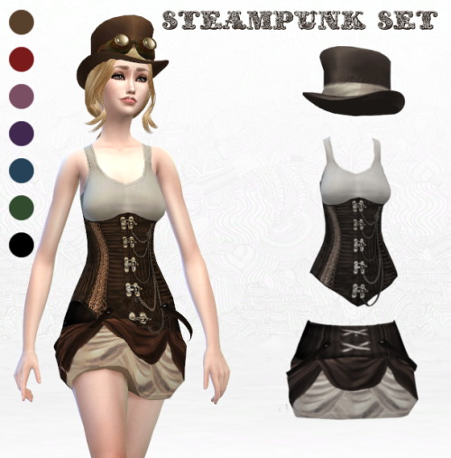 Steampunk Set at Lady Hayny 187 Sims 4 Updates : 10511 from sims4updates.net size 500 x 507 jpeg 72kB