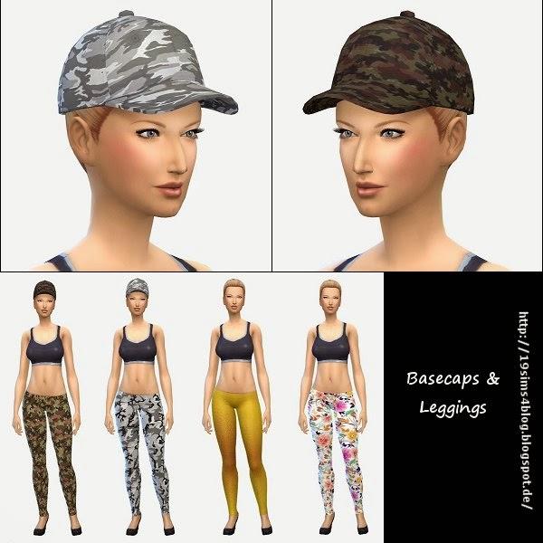 Sims 4 Basecaps & Leggings at 19 Sims 4 Blog
