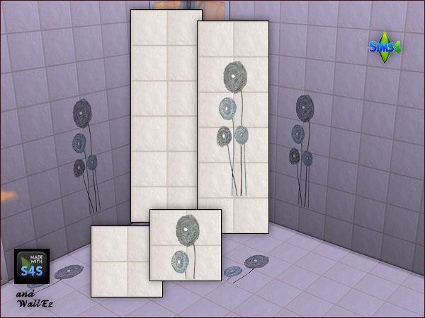 Sims 4 4 bathroom tile sets by Mabra at Arte Della Vita