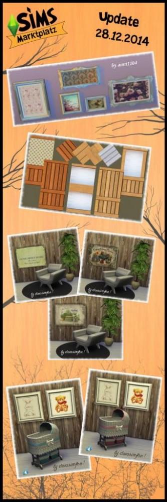 Walls & floors, crib & painting recolors at Sims Marktplatz image 10820 Sims 4 Updates