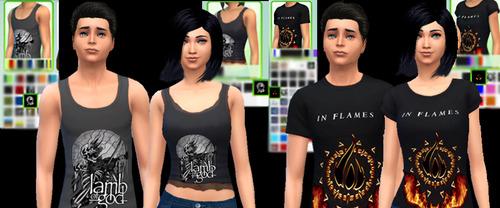 MERCH! t shirts at Aurimon image 11108 Sims 4 Updates