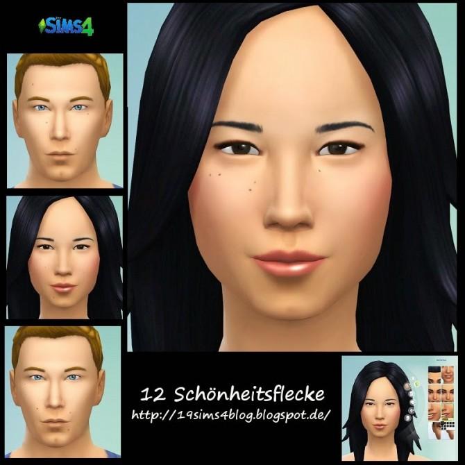 Sims 4 Beauty marks set 1 at 19 Sims 4 Blog