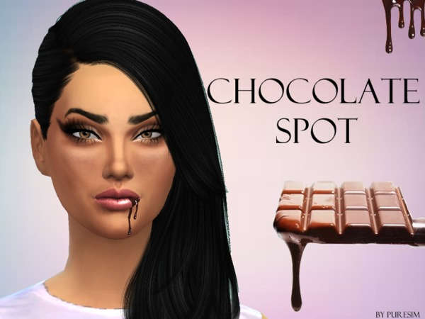 Sims 4 Chocolate Spot For Lips by Puresim at TSR