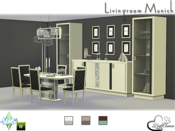 Diningroom munich by buffsumm at tsr sims 4 updates for Dining room ideas sims 4