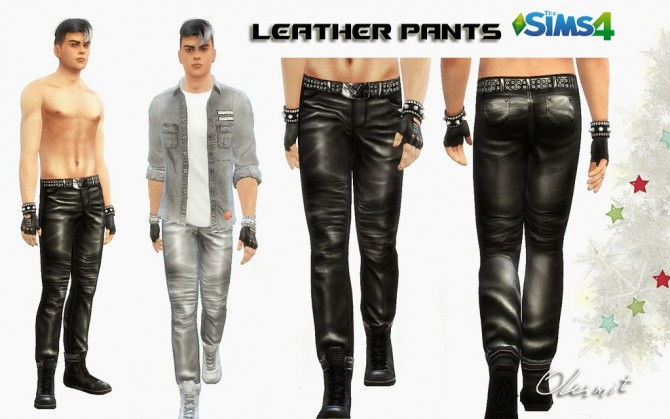 Sims 4 Leather pants at OleSims