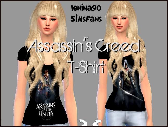 Sims 4 Assassins Creed Female T shirt by lenina 90 at Sims Fans