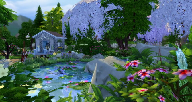 Cherry Blossom Park At Studio Sims Creation 187 Sims 4 Updates