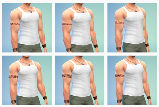 Sims 4 6 in one armband tattoo at LumiaLover Sims