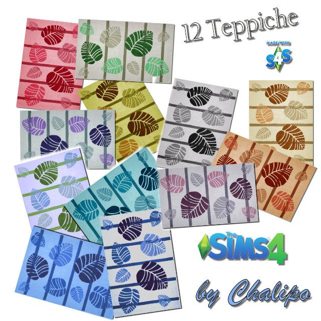 Sims 4 12 Carpets by Chalipo at All 4 Sims