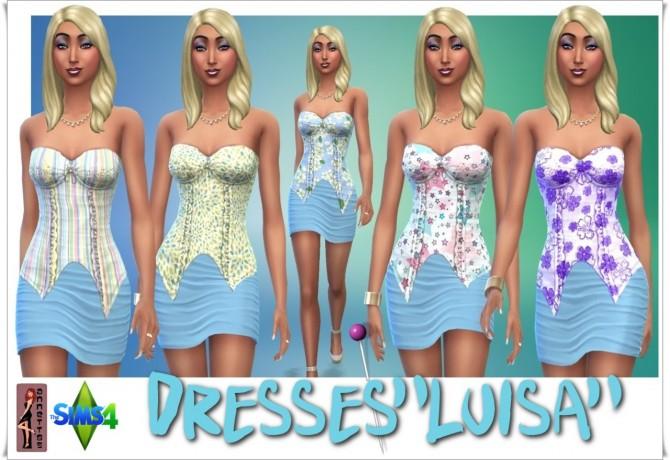 Sims 4 Luisa dress at Annett's Sims 4 Welt