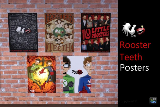 5 Rooster Teeth Posters By Poppyheart At Mod The Sims