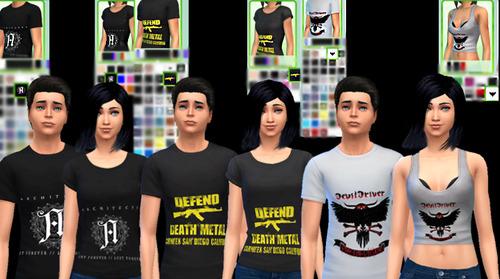 MERCH! t shirts at Aurimon image 12108 Sims 4 Updates