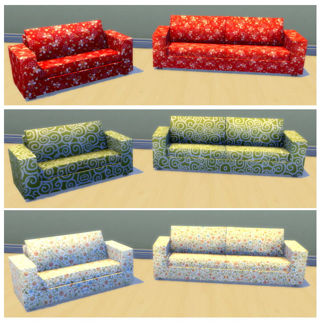 Sims 4 6 sofa and loveseat by Chalipo at All 4 Sims