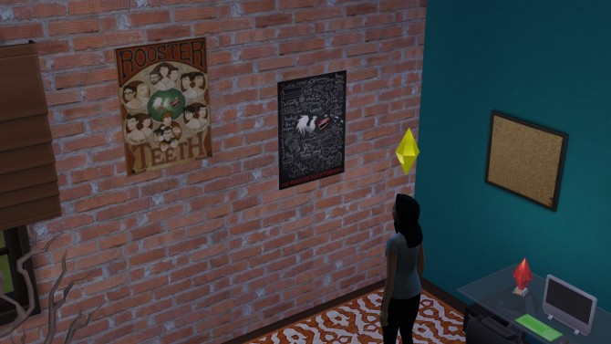 Sims 4 5 Rooster Teeth Posters by poppyheart at Mod The Sims