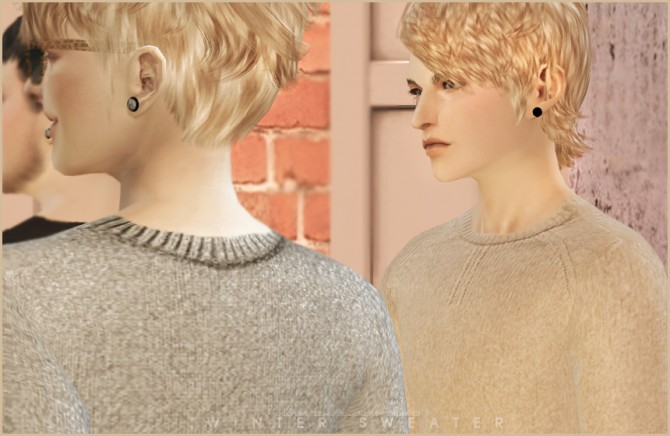 Sims 4 Winter sweater at Black le