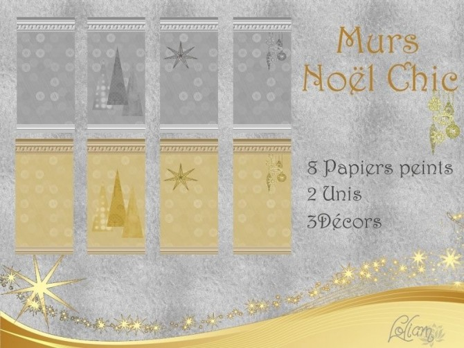 SET NOËL CHIC by loliam at Sims Artists image 1245 Sims 4 Updates