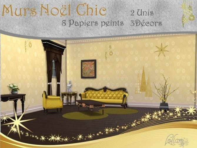 SET NOËL CHIC by loliam at Sims Artists image 1253 Sims 4 Updates