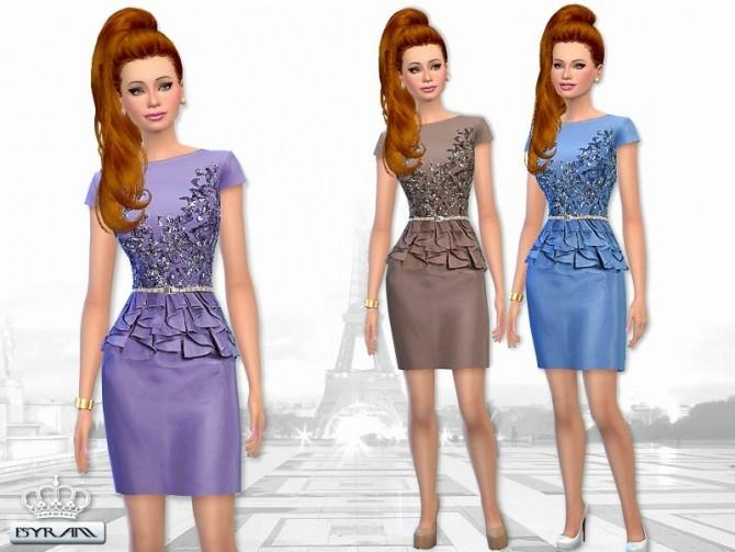 Sims 4 Short Peplum Dress at EsyraM