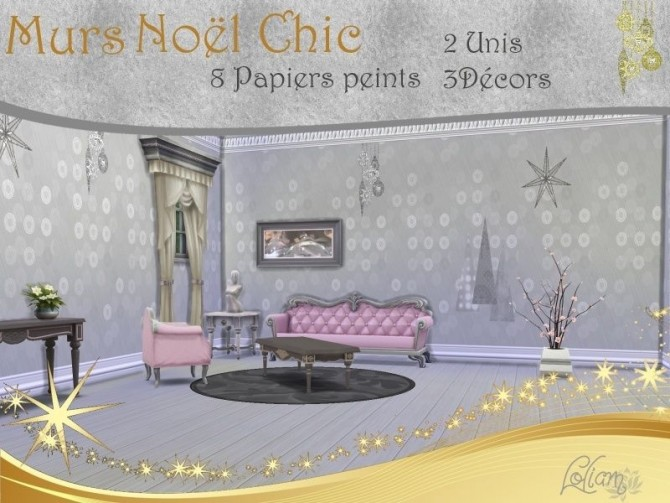 SET NOËL CHIC by loliam at Sims Artists image 1265 Sims 4 Updates