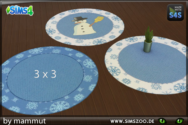 Sims 4 Winter rugs 1 by mammut at Blacky's Sims Zoo
