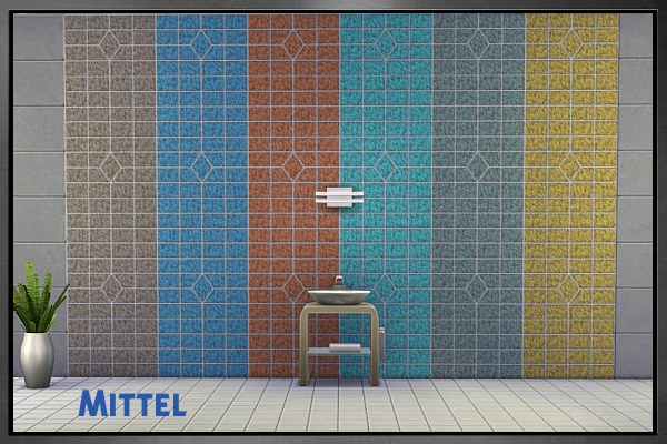 Sims 4 Good Eindruck wall tiles by Cappu at Blacky's Sims Zoo