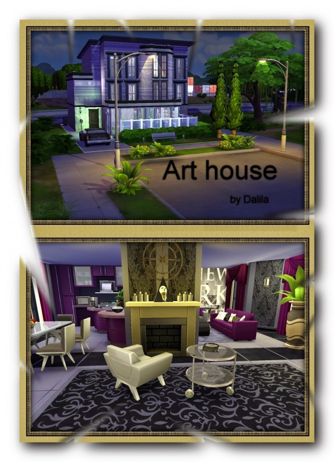 Sims 4 Art house at Architectural tricks from Dalila