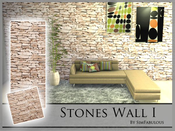 Stones Wall I by SimFabulous at TSR image 13104 Sims 4 Updates