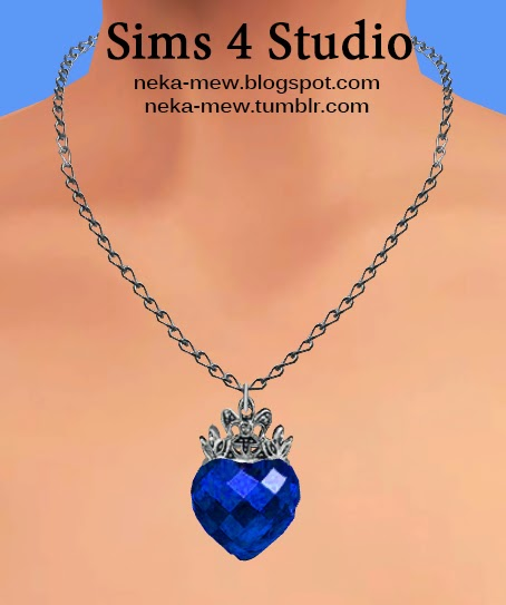 Rubin Heart Necklace And Earrings At Neka Mew 187 Sims 4 Updates