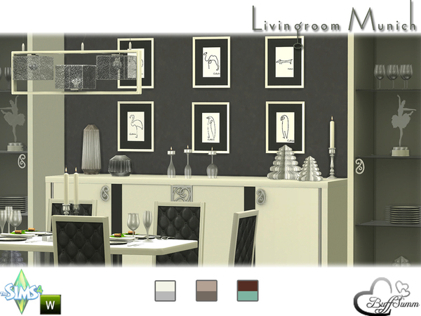 diningroom munich by buffsumm at tsr sims 4 updates. Black Bedroom Furniture Sets. Home Design Ideas