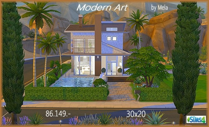 Modern Art house by Mela at All 4 Sims image 1325 Sims 4 Updates
