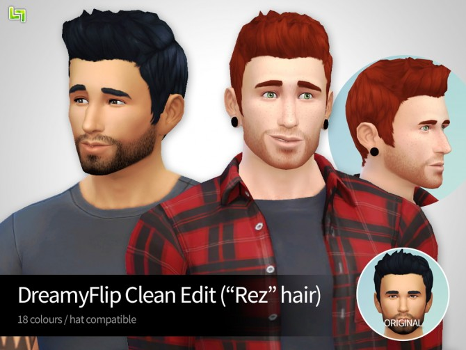 Sims 4 DreamyFlip Clean Edit (aka Rez hair) at LumiaLover Sims