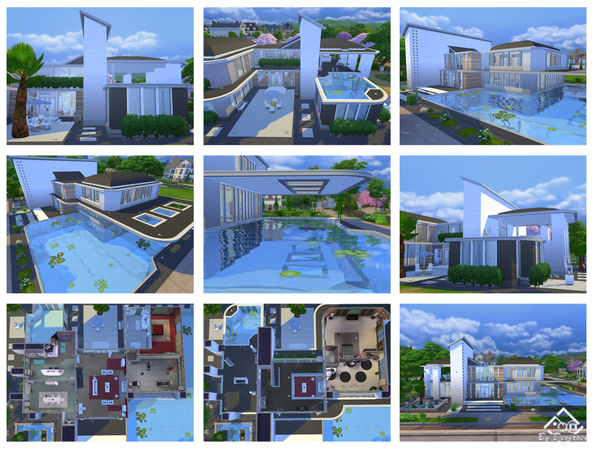Sunset Modern house 12 by Devirose at TSR image 138 Sims 4 Updates