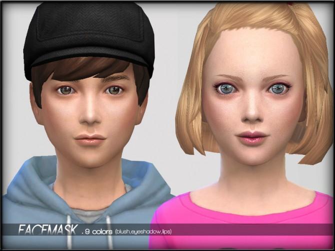 Face Mask Set1 Child by ShojoAngel at TSR image 1380 Sims 4 Updates