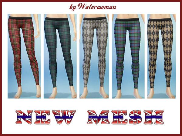 Brit Look Leggins by Waterwoman at Akisima image 1396 Sims 4 Updates