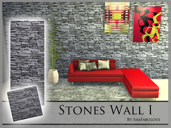 Stones Wall I by SimFabulous at TSR image 14100 Sims 4 Updates