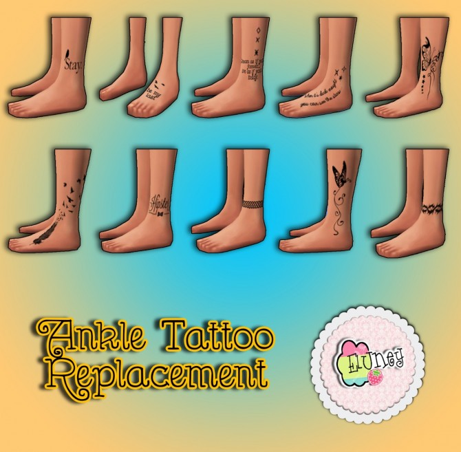 Sims 4 Ankle Tattoos replacement at Eluney Design