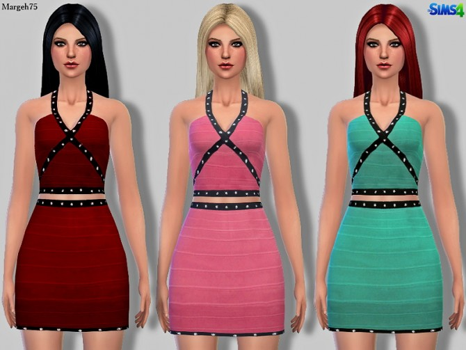 Bandage dress with diamonds at Sims Addictions image 1440 Sims 4 Updates