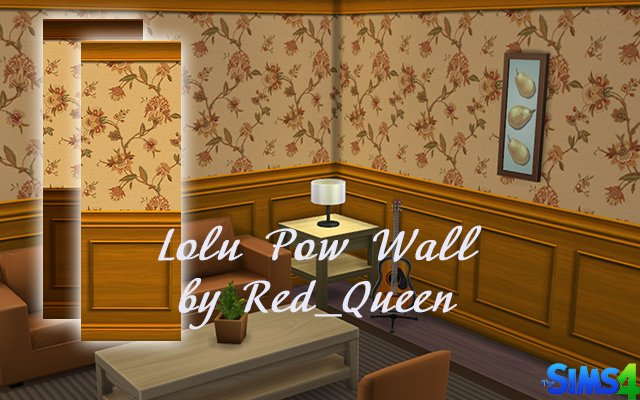 Sims 4 Lolu Pow Wall by Red Queen at ihelensims