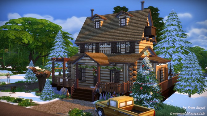 Christmas log cabin at frau engel sims 4 updates for Cabin lots