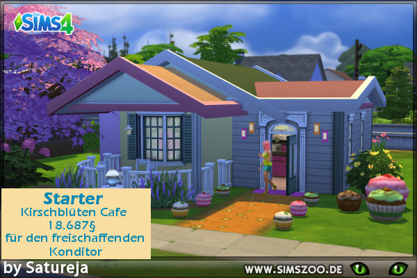 Starter Haus by Satureja at Blacky's Sims Zoo image 1471 Sims 4 Updates
