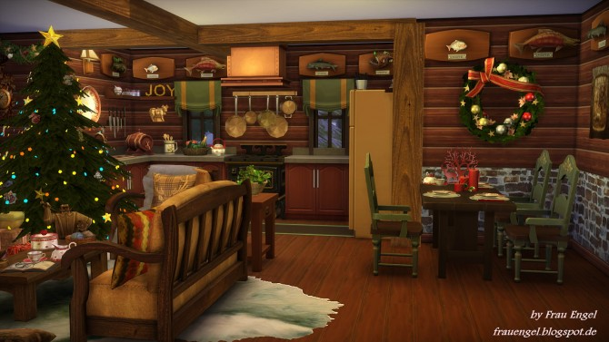 Christmas Log Cabin At Frau Engel 187 Sims 4 Updates