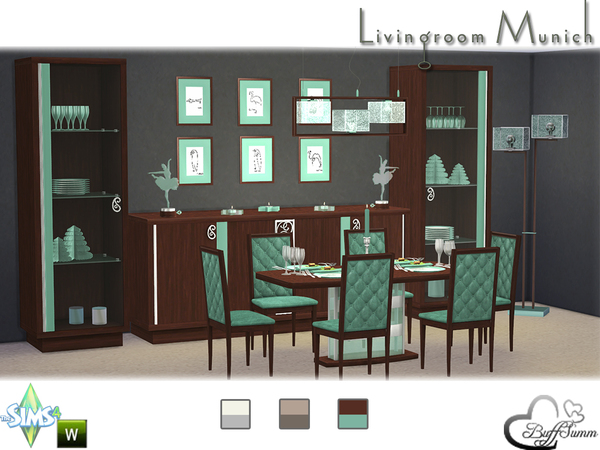 Diningroom munich by buffsumm at tsr sims 4 updates for Sims 3 dining room ideas