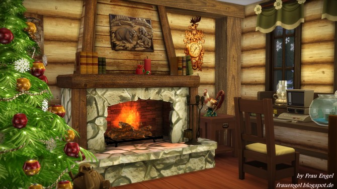 Sims 4 Christmas Log Cabin at Frau Engel