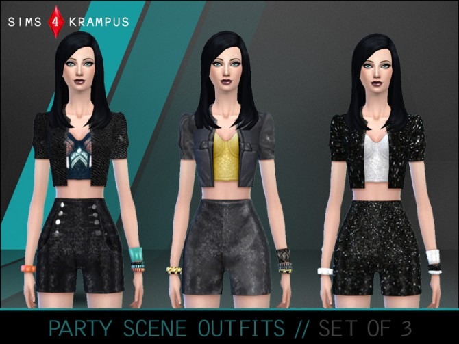 Sims 4 Party Scene Outfits at Sims 4 Krampus
