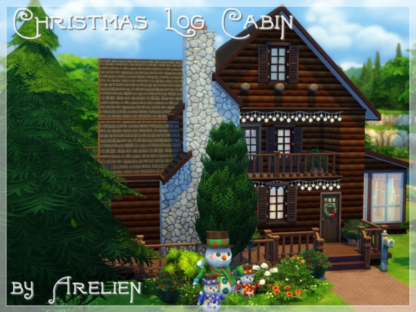 Christmas Log Cabin by Arelien at TSR image 1559 Sims 4 Updates