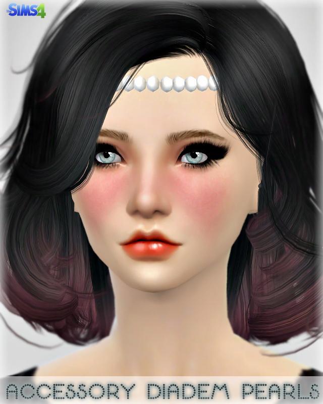 Sims 4 Pearls Diadem at Jenni Sims