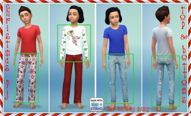 Universal Christmas pjs for child by mamaj at Simtech Sims4 image 1562 Sims 4 Updates