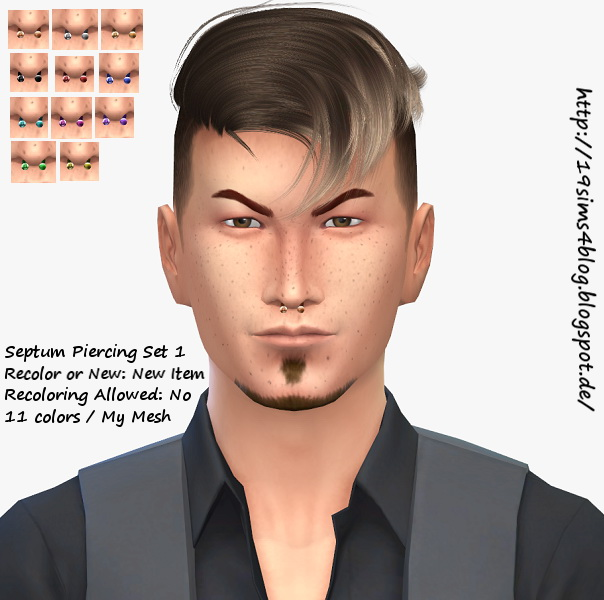 Septum Piercing For Males At 19 Sims 4 Blog Sims 4 Updates