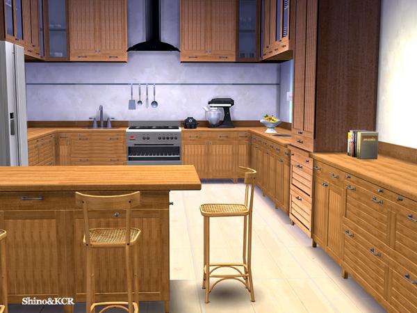 Kitchen dark chocolate by shinokcr at tsr sims 4 updates for Kitchen set sims 4